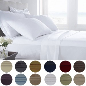 Presidential Collection 1800 Series Egyptian Comfort 6 Piece Sheet Set - in 3 Sizes & 12 Colors