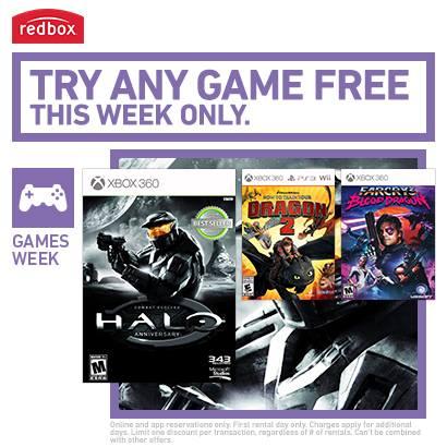 Redbox free video game Free 1 Day Video Game Rental at Redbox This Week!