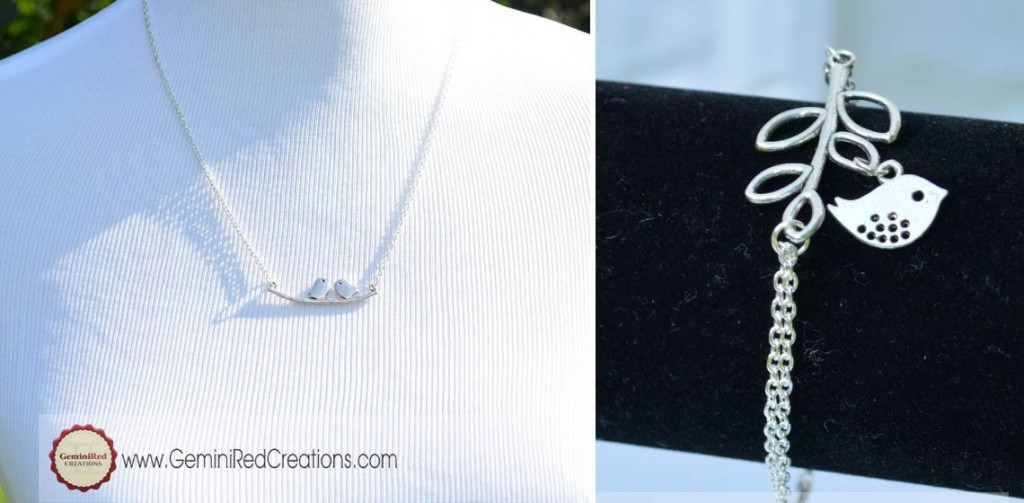 bird necklace or bracelet