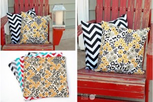 chevron or floral pillow covers