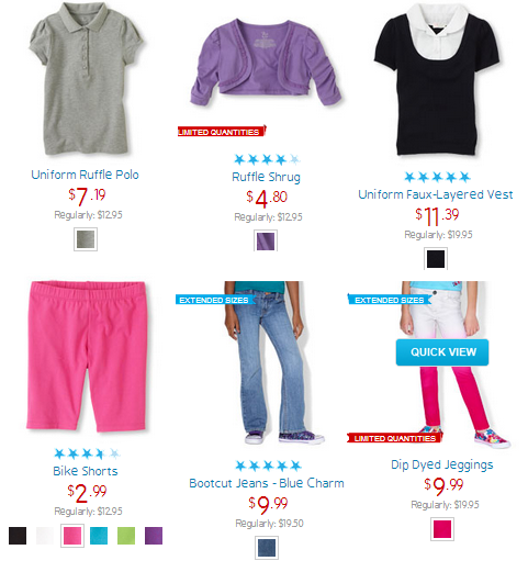 childrens place clearance