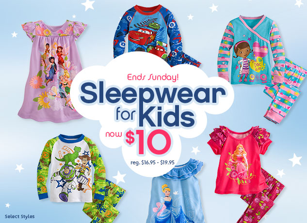 ca0a47bb6f9 Hurry to the Disney Store because their Sleepwear is just  10 through  Sunday! This is a savings of as much as 50% over the regular price of   16.95- 19.95. ...