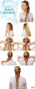 elsa's side braid