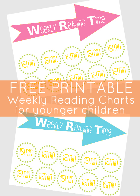 free children's reading charts from Our Thrifty Ideas