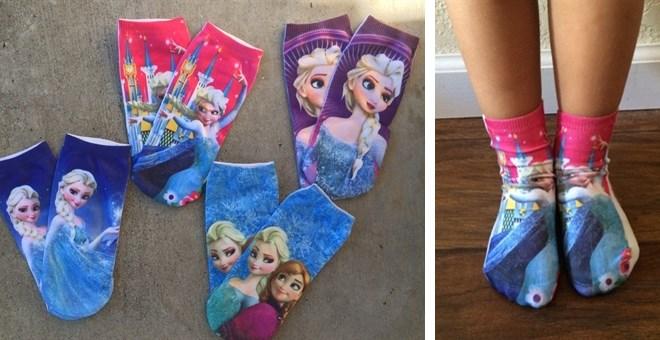 frozen elsa and anna socks