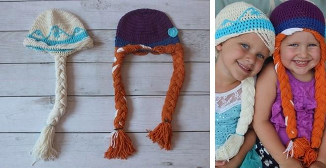 frozen inspired crochet hats