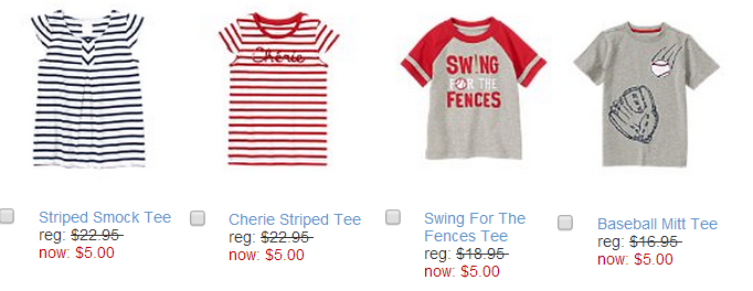 gymboree 5 Gymboree: Tanks, Tees & Accessories for $5! Plus Layers and Jeans 50% Off!