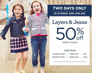 gymboree 50 off sale