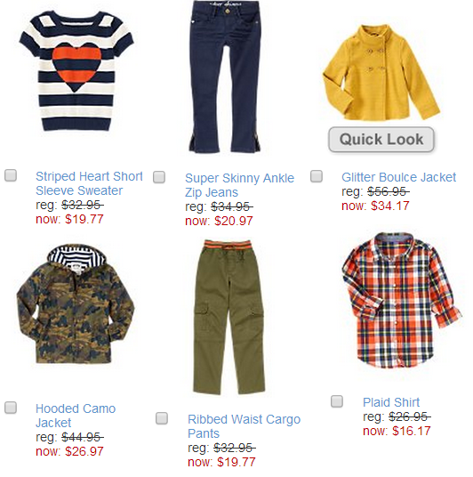 gymboree labor day sale items