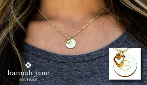 Designer inspired 14k gold plated initial pendant necklace with hannah jane designer inspired 14k gold plated initial pendant necklace with charm aloadofball Choice Image
