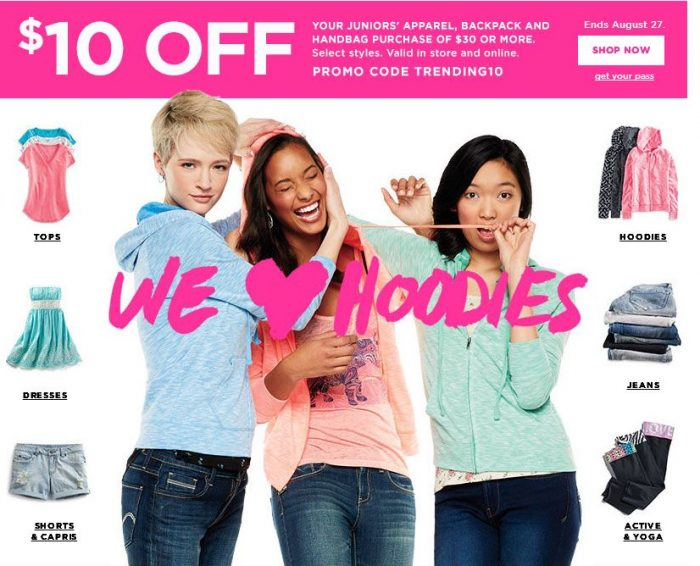 HOT* $30 of Kohl's Junior Apparel, Backpacks, Handbags or