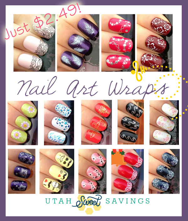nail art wraps Nail Art Wrap Decal Stickers for $4.48! *42 Styles*