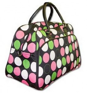 Price Drop!* Cute Polka Dot Overnight/Carry-on/Gym Bag for $22.29 ...
