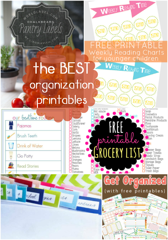 the best organization printables