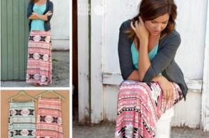 tribal maxi skirts