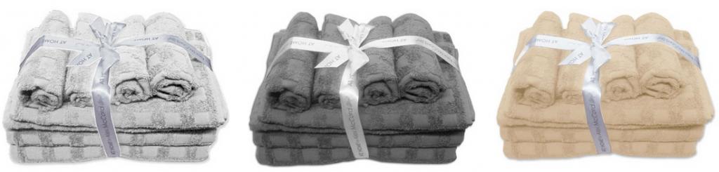 10 piece cotton bath towel sets