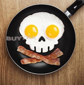 Funny Side Up Skull Silicone Egg Art Mold