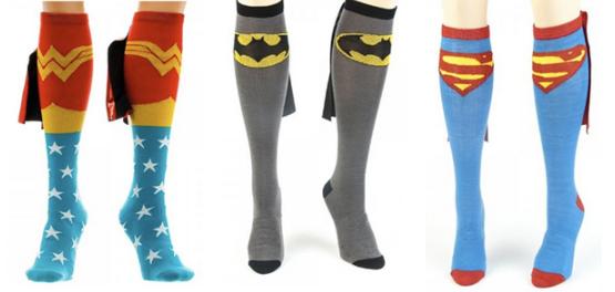 156 Superhero Socks With Capes $7.64 Shipped (Reg. $19.99)