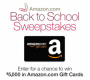 Amazon Back to School Sweepstakes