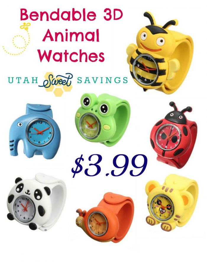Bendable 3D Animal Watches