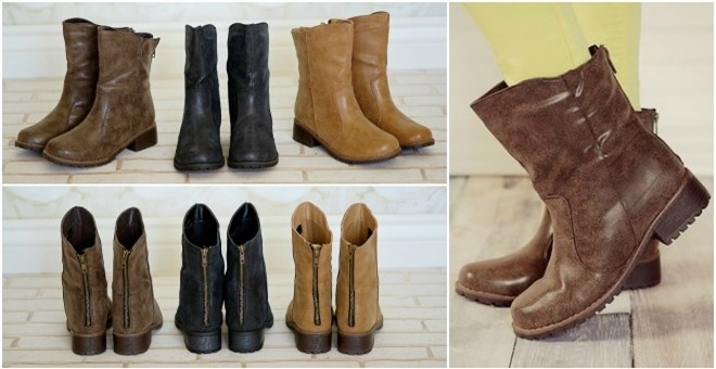 Distressed Short Boots