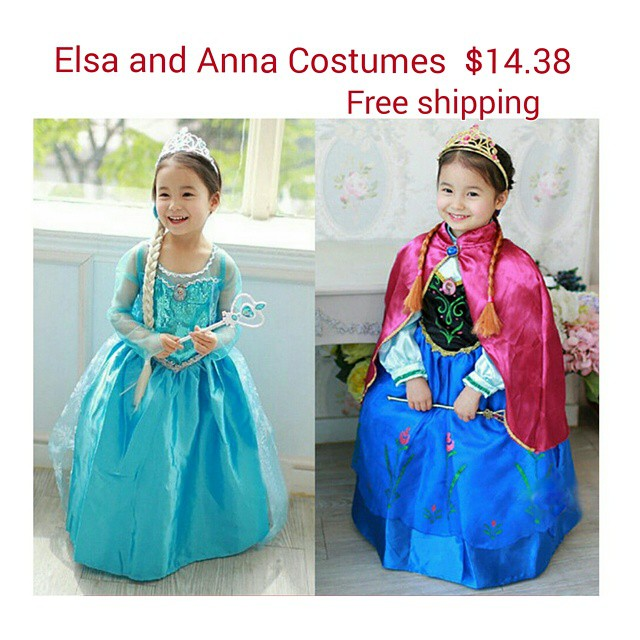 Elsa and Anna Dresses Anna and Elsa Dresses $14.38 Free Shipping!  *Last Chance for Halloween!