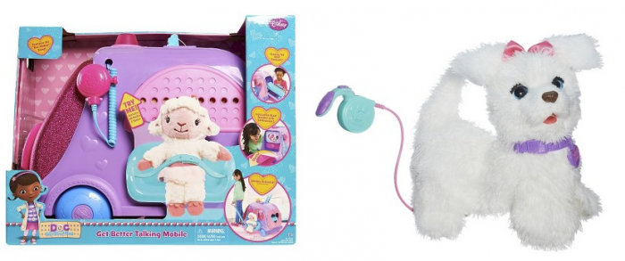 FurReal Friends Get Up and GoGo My Walking Pup Pet and Doc McStuffins Mobile Cart