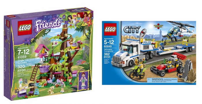 LEGO® City Helicopter Transporter 60049 and LEGO® Friends Jungle Tree Sanctuary 41059
