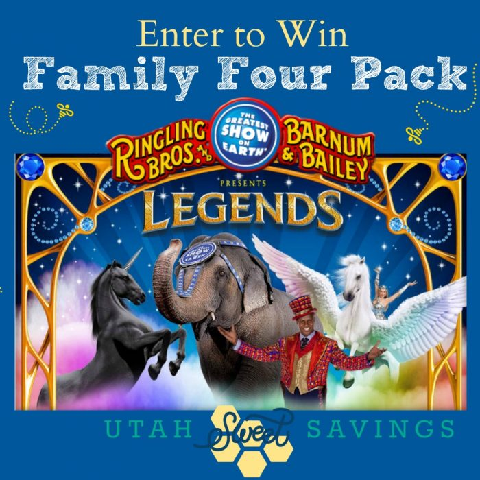Giveaway Family Four Pack To Ringling Bros And Barnum