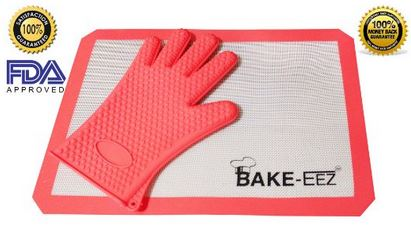 Silicone Baking Mat With Oven Mitt Set