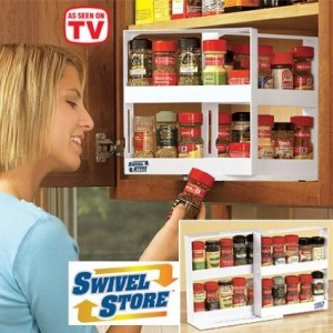 Swivel Store Deluxe Spice Rack and Cabinet Organizer Storage System