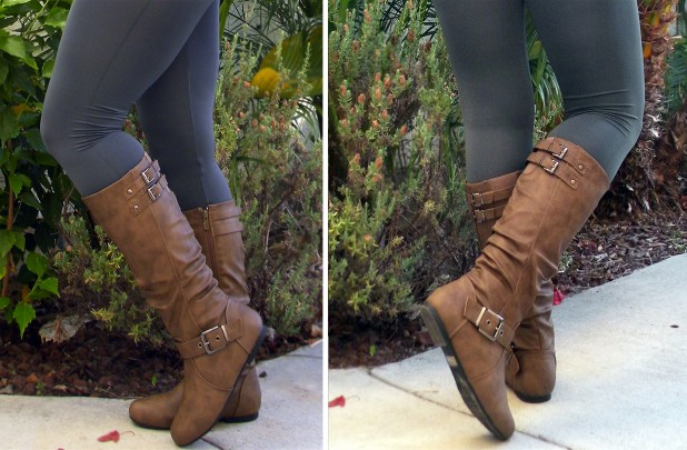 Tall Buckle Boots Extra 15% off at GroopDealz!  Leggings $4.24, Tall Boots $25.49, Ruffle Top $5.94, MORE  *Hot Deals*