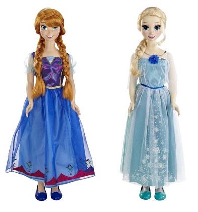 anna and elsa disney frozen my size doll