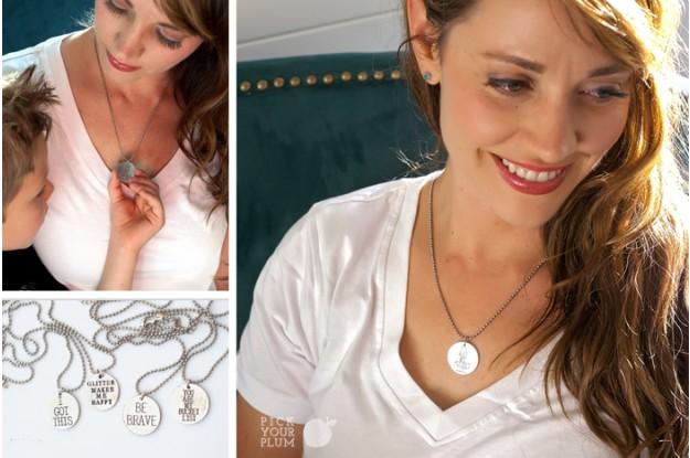antique charm quote necklaces