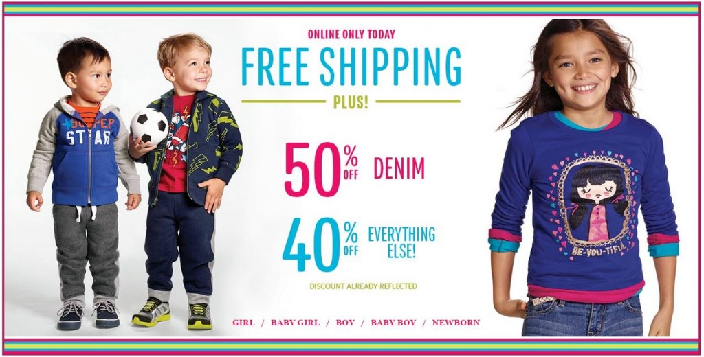 childrens place free shipping sept 30