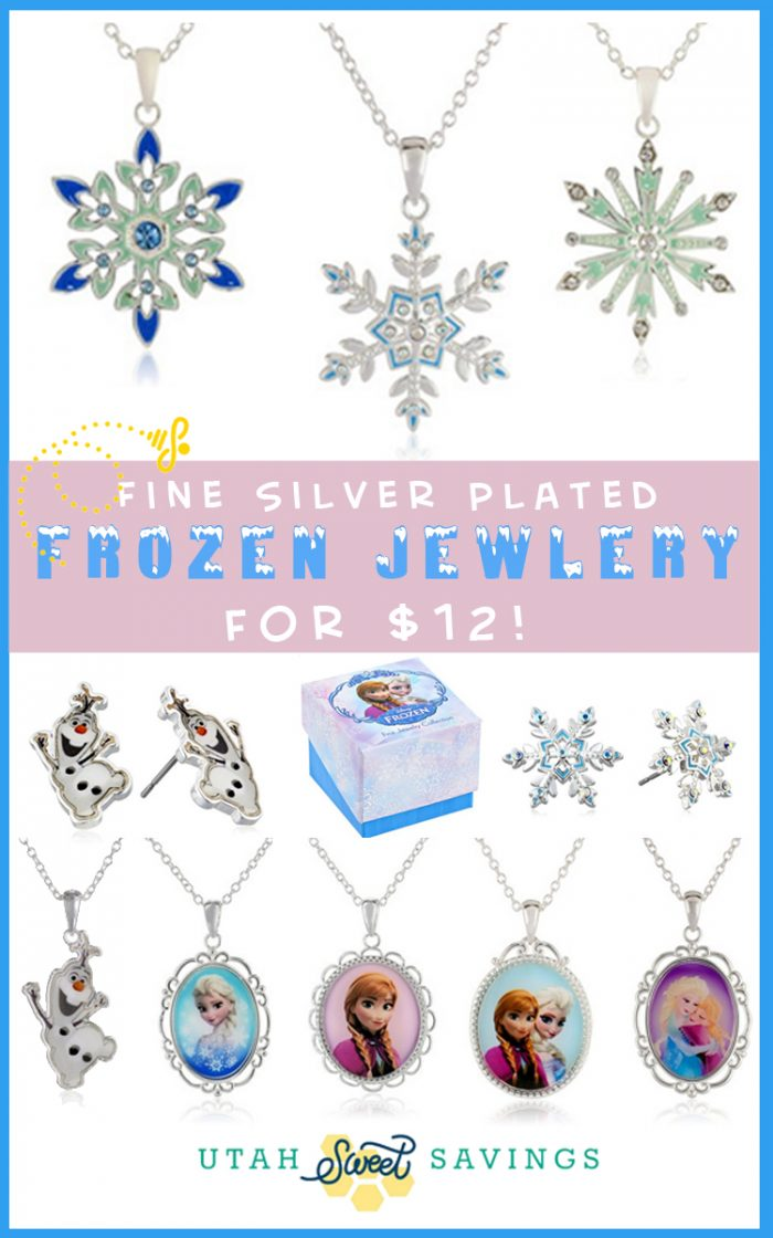 fine silver plated frozen jewelry Beautiful Disney Girls Frozen Necklaces for $12 (Reg $24)!