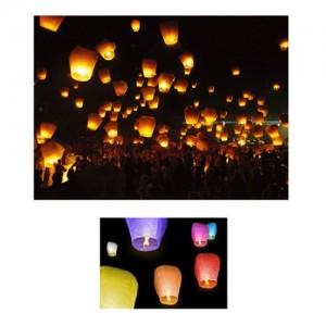 floating chinese sky lanterns