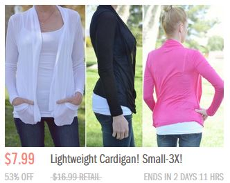 groopdealz cardigans GroopDealz: Help Us Win a $50 Gift Card to Give Away!