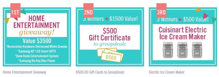 groopdealz giveaway GroopDealz: Help Us Win a $50 Gift Card to Give Away!