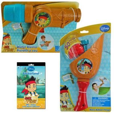 jake and the neverland pirates water balloon water gun stickers gift set