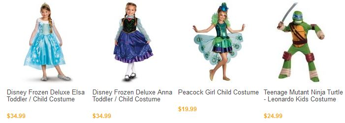 kids costumes BuyCostumes Orange Tuesday! 25% Off Costumes TODAY ONLY! Includes Frozen, TMNT, Duck Dynasty, MORE!
