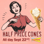 national ice cream cone day sonic