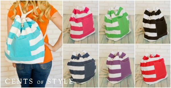 nautical stripe bags
