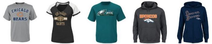 nfl team sale amazon NFL Team Tees, Fleece, & Hoodies for Youth & Adults! Starts at $9.99!