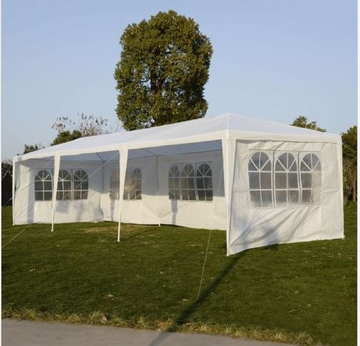 outdoor event tent with sidewalls