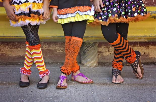 ruffle pattern leg warmers