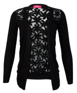 womans cardigan 249x300 Women Floral See Through Back Sheer Long Sleeve Cardigan $6.75 + Free Shipping