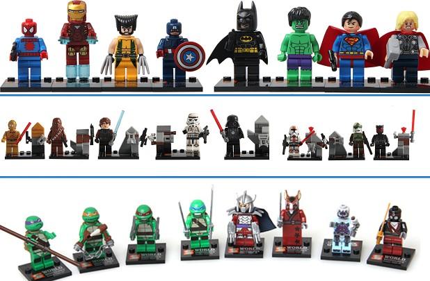 8 piece building block figures
