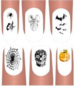 90 halloween nail decals