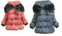 Baby Girls Kids Polka Dot Winter Parka Jacket Coat Snowsuit